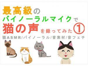 [RJ278997] (ヨルマガ!-ASMR Night Life Media-) 最高級のバイノーラルマイクで猫の声を録ってみた(1) 猫ASMR/バイノーラル/音素材/音フェチ/音声作品